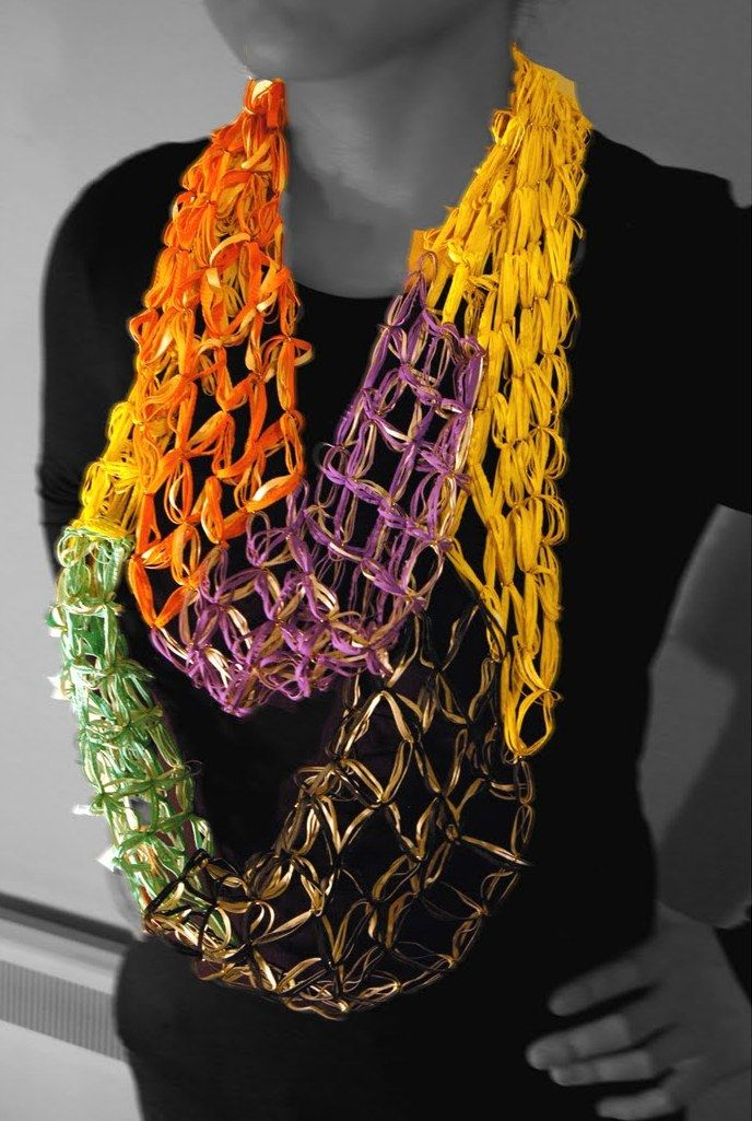 Xiaorui Zhang necklaces - made with rubber gloves