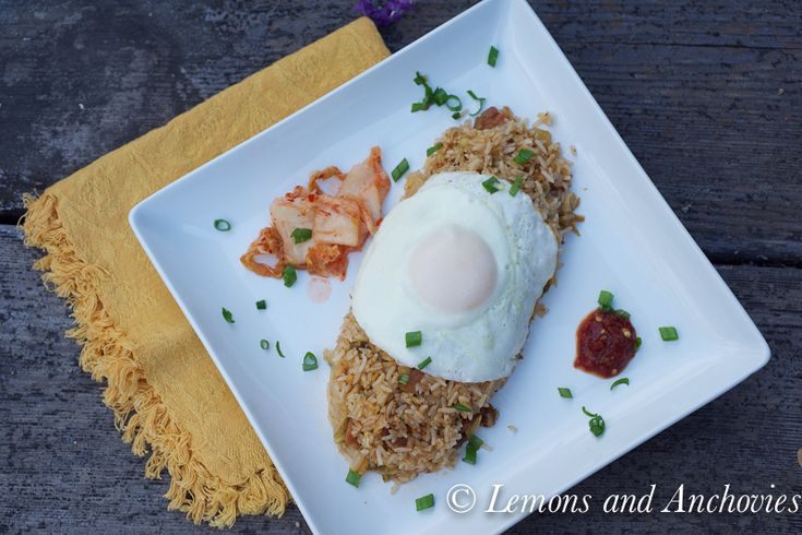 Kim Chi Rice with Egg (use brown rice) | Asian flavors | Pinterest