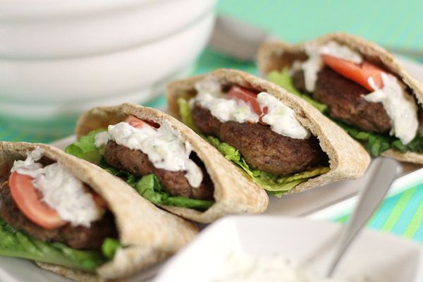 Lamb Gyro Burger Recipe - minus the pita though