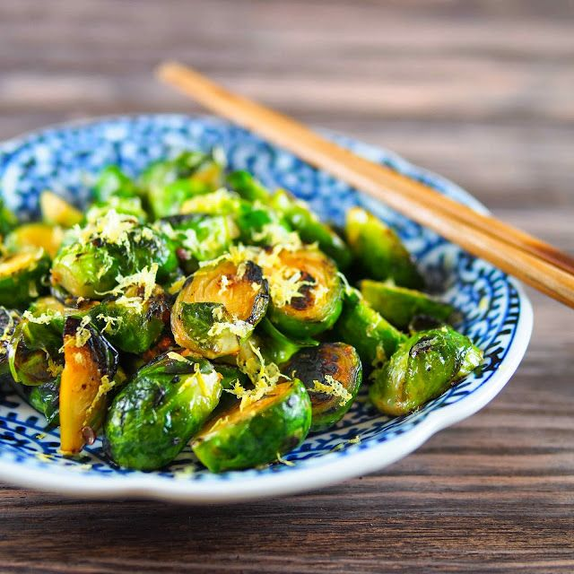 Crispy brussels sprouts with Szechuan peppers and duck fat