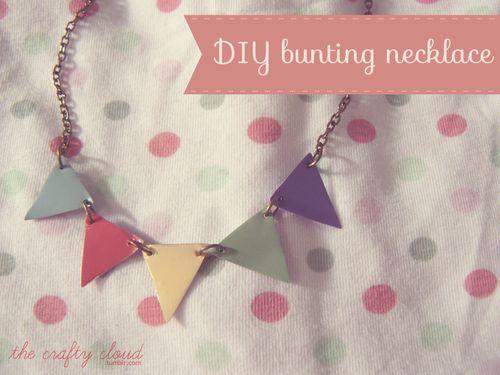 DIY bunting necklace - the crafty cloud ☁