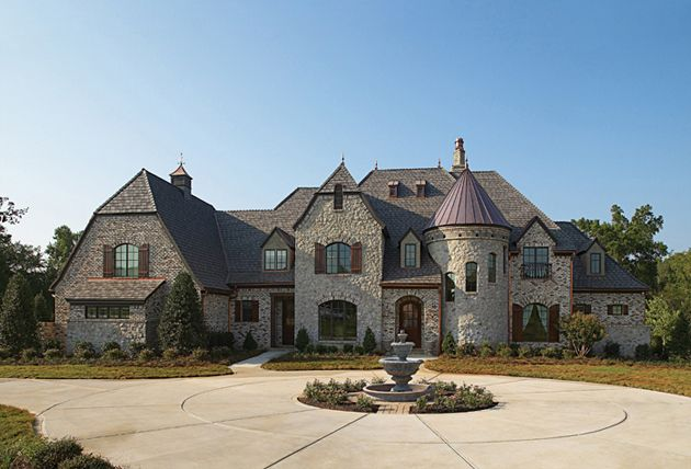 Brick House Plans With Turrets   Free Online Image House Plans    Luxury European House Plans on brick house plans   turrets