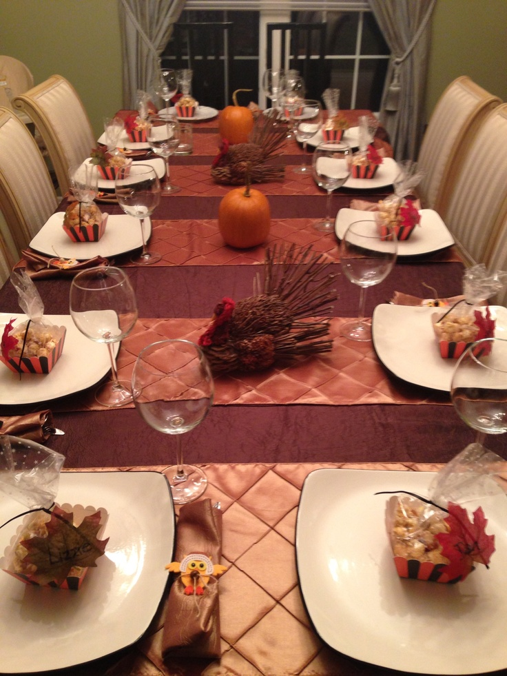 Thanksgiving Table Setting Thanksgiving Pinterest