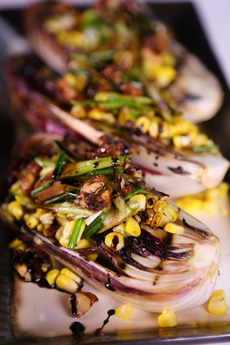 Grilled Radicchio Salad with Balsamic Reduction [Daphne Oz]