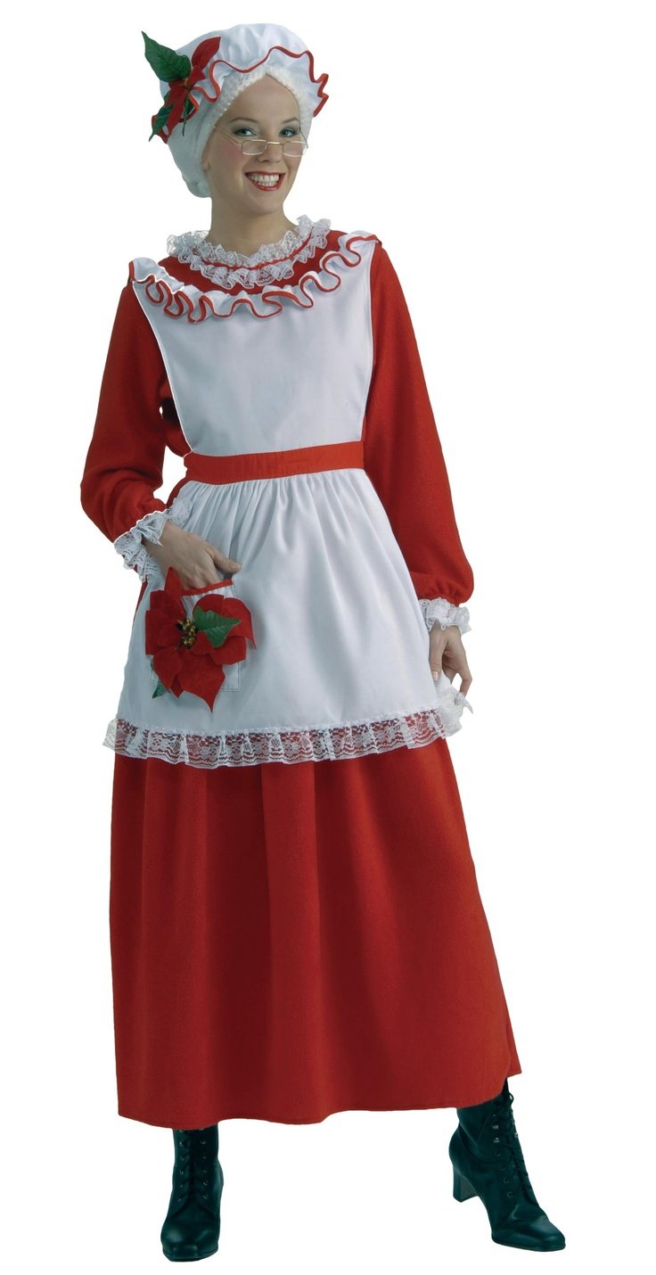 Classic Mrs. Claus Adult Costume - One-Size