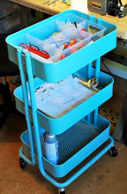 ikea trolley for craft organization my craft room pinterest