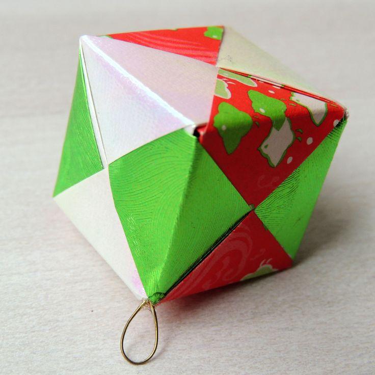 christmas ornament origami kieks atelier pinterest
