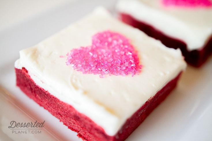 Red Velvet Sugar Cookie Bar with White Chocolate Cream Cheese Frosting