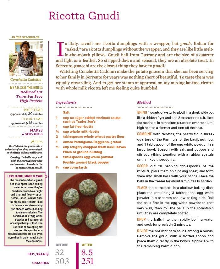 Ricotta Gnudi...The recipe! | Recipes | Pinterest