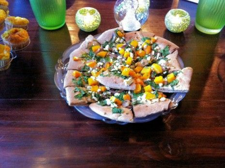 Butternut Squash, Spinach, and Goat Cheese Pizza