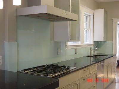 Tempered glass kitchen backsplash kitchens pinterest - Frosted glass backsplash ...
