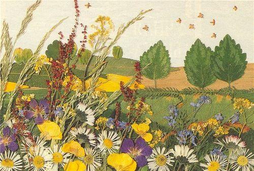Картины из осенних цветов своими руками 24