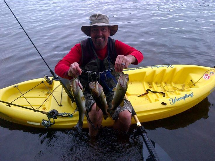 kayak fishing stringer full 39 o bass the great outdoors