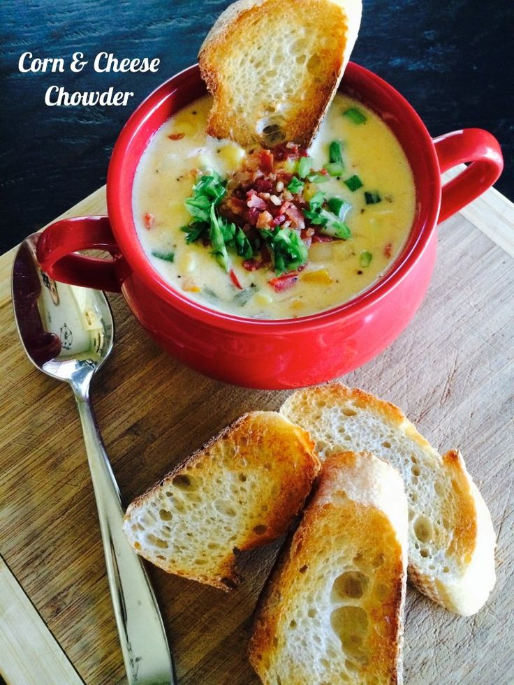 Corn & Cheese Chowder | food and drink | Pinterest