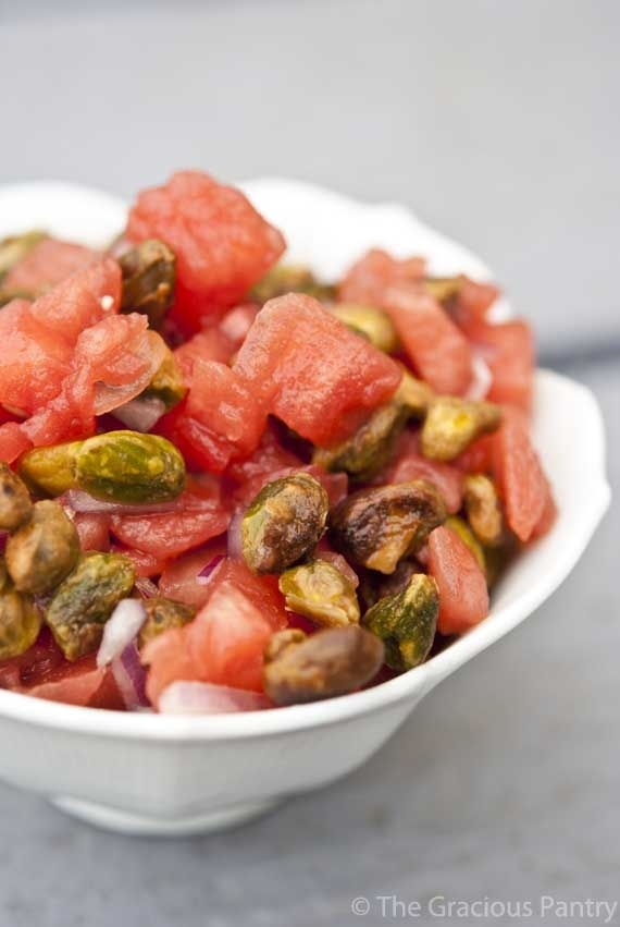 ... give it a try in the summer. Clean Eating Watermelon Pistachio Salsa