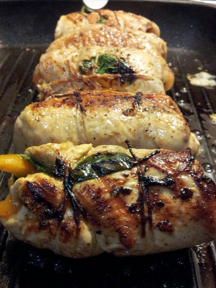 Stuffed Chicken Sofrito with Spinach | Food & Drinks | Pinterest