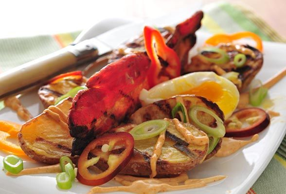 Grilled Potato Salad | Scrumptious Salads