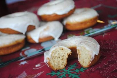 Eggnog donuts - fun for Christmas morning!!