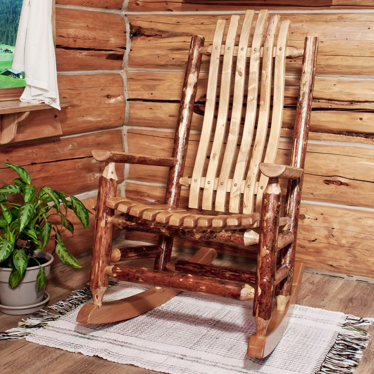 Montana woodworks 174 glacier country rocking chair 499 99