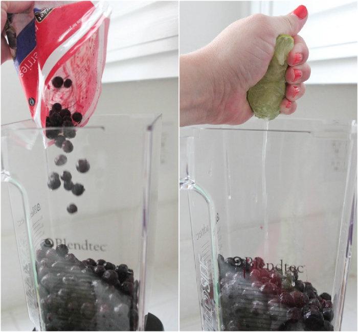 Blueberry Lime-Aid Slushy