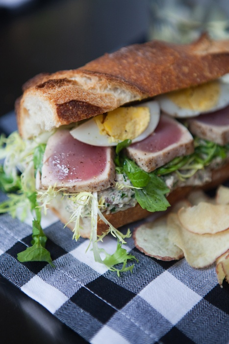 Ahi tuna sandwich looks delicious