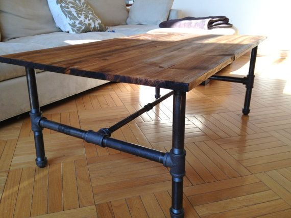 Customizable Rustic Industrial Coffee Table