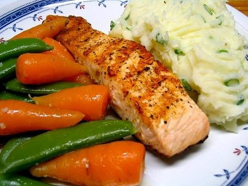 Rick's Grilled Salmon with Rosemary Marinade 4 salmon filets, thawed ...