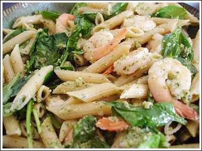 pasta with kale pesto shrimp and tomato shrimp and pasta shells salad ...