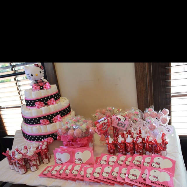 hello kitty theme baby shower for my bff amor shower pinterest