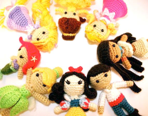 Amigurumi Disney Princess : Disney princess amigurumi patterns Craftiness! Pinterest