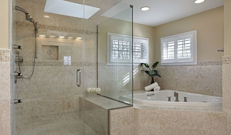 Luxury Walk In Shower With Custom Tiles Luxury Showers