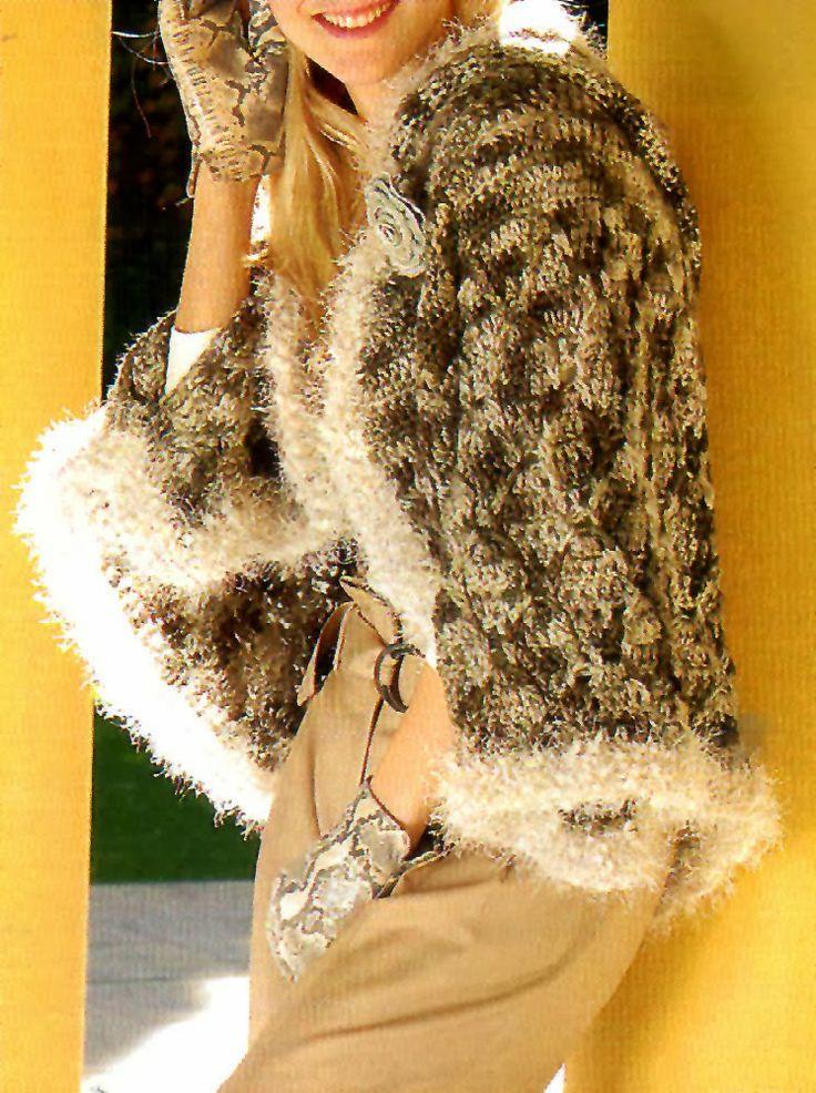 Tejidos Artesanales En Crochet Bolero Con Delicado Encaje