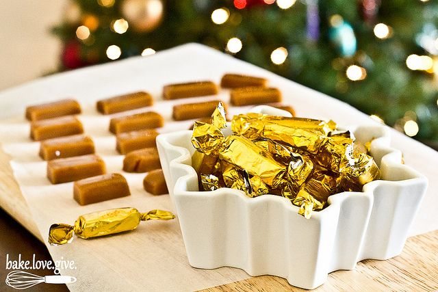 Gingerbread Spice Caramels Recipe (bake.love.give.)