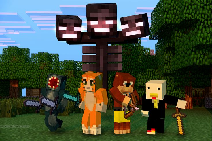 Stampy And Squishy : Squid, Stampy, L-For-Lee, and Squishy! Minecraft Pinterest