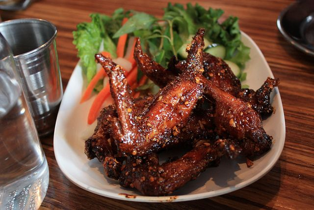 The Famous Ike's Vietnamese Fish Sauce Wings at Pok Pok.