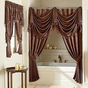 Splendor Double-Swag Shower Curtain | Bathroom Ideas | Pinterest