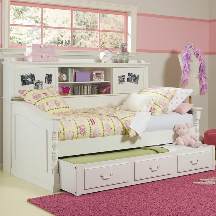 Beautiful Daybed With Bookcase And Trundle Bed Great Space Saver