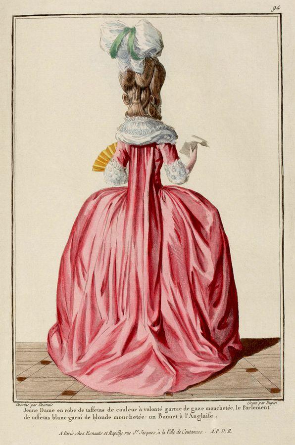 1778 французских способа плиты - вид сзади