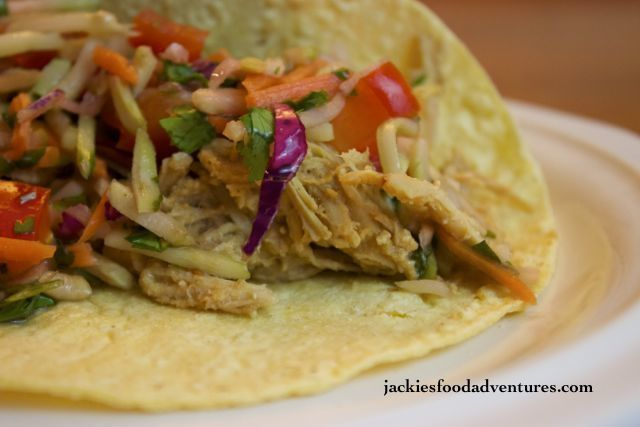 Crockpot Thai Chicken Tacos | Blog - Jackie's Food Adventures | Pinte ...
