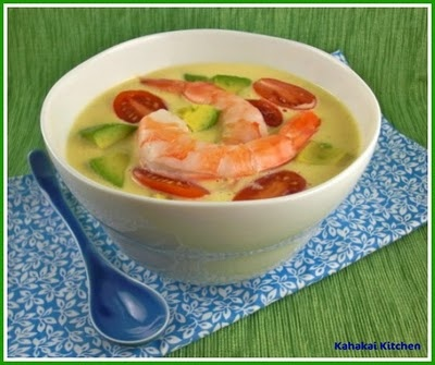 Cold Southwestern Corn and Shrimp Soup - quick and easy!