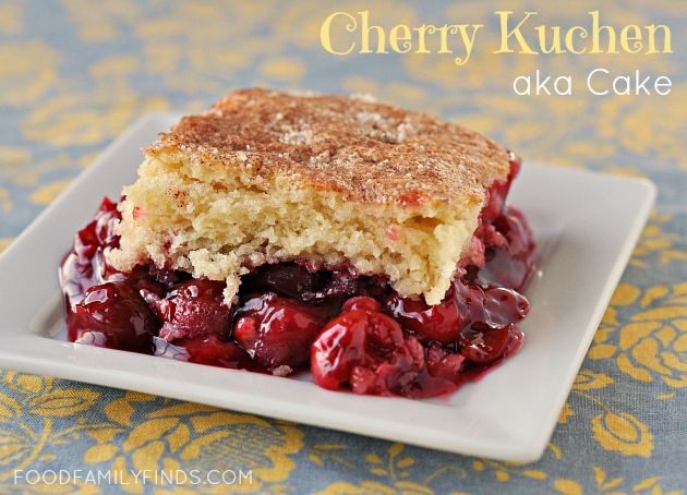 ... cherries, a box of yellow cake mix, topped with pecan halves and bake