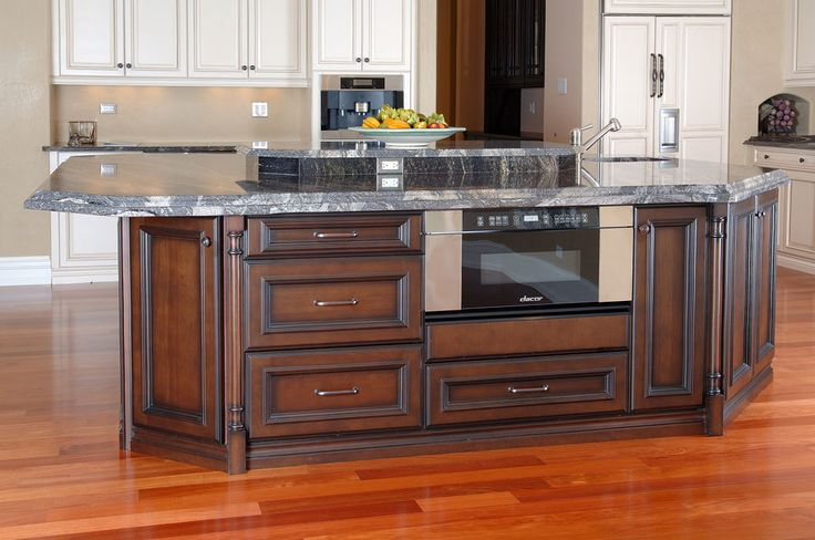 Kitchen Cabinets, burnt sienna  cashmer, flat panel frameles Cabinets