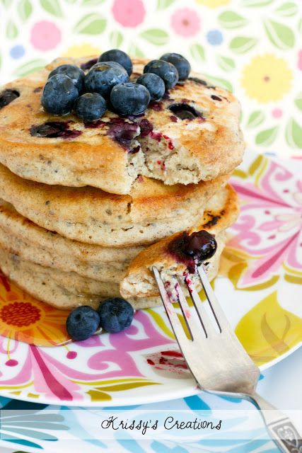 Rye & Blueberry Pancakes with Chia Seeds