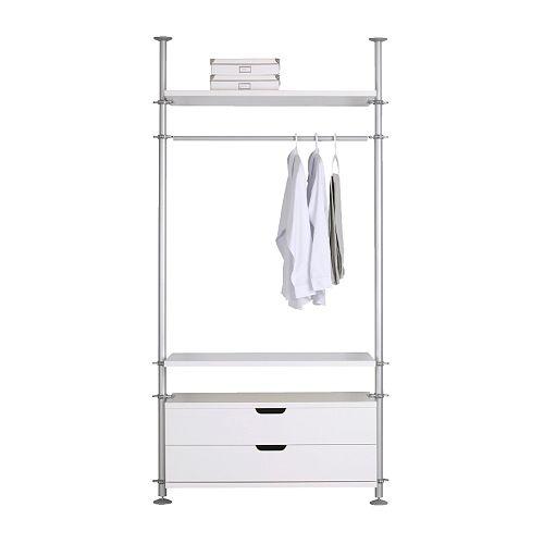 Ikea stolmen wardrobe system design ikea pinterest for Ikea wardrobe systems