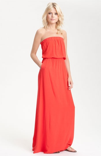 Perfect all over <3 Strapless Blouson Maxi Dress.