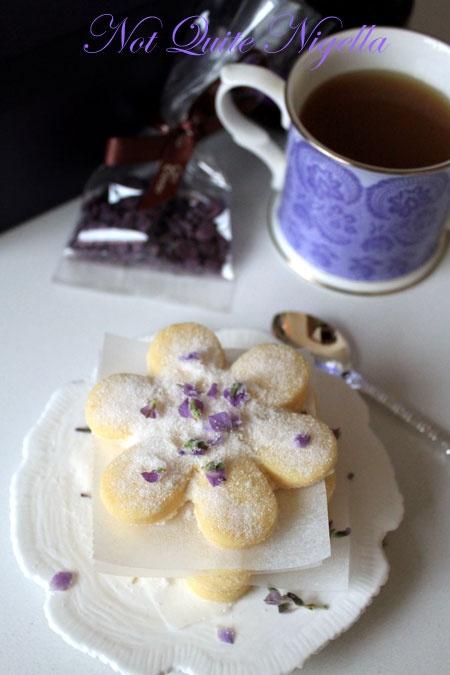 Lavender Shortbread Cookies. #food #baking #cookies