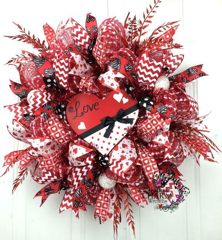 Valentine mesh wreaths