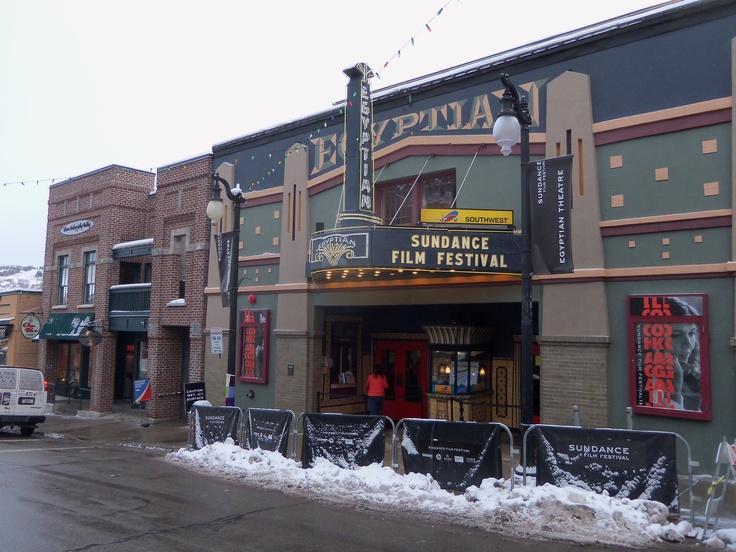 The Egyptian Theatre. Park City Utah.  Beautiful!   Sundance 2012