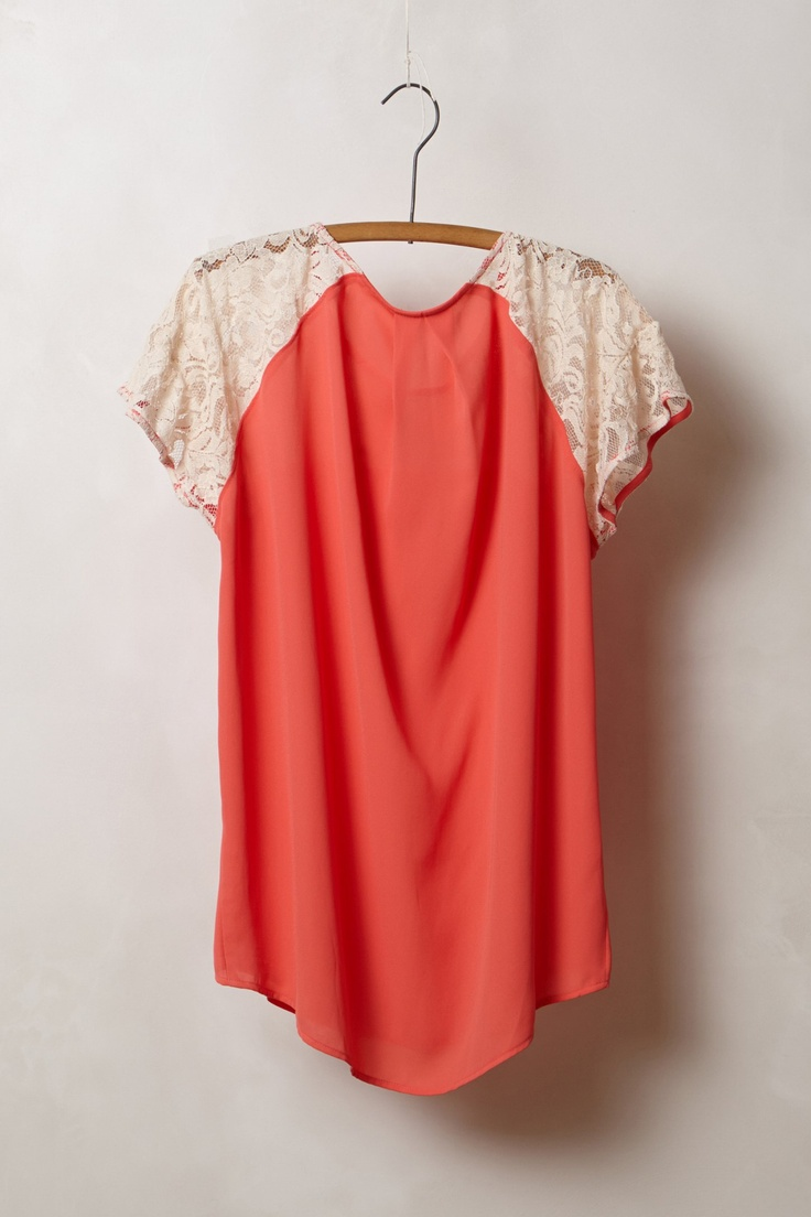 Anthropologie Blushed Lace Blouse 106