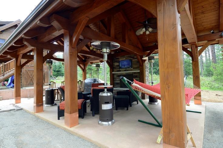 Backyard Man Cave Kits : the man cave  Timber Frame Pavilion Kits  Pinterest
